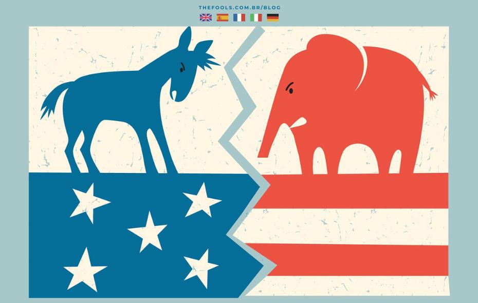 18 diferenças entre os partidos Democrata x Republicano